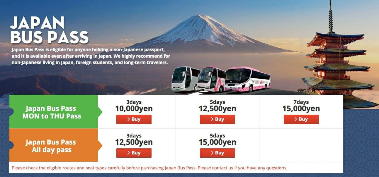 Willer Bus Japan
