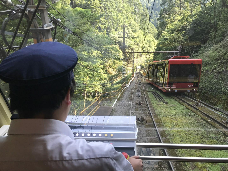 Conductor de teleférico en Koyasan