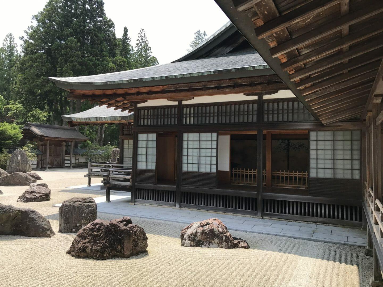 Jardín zen de un templo de Koyasan