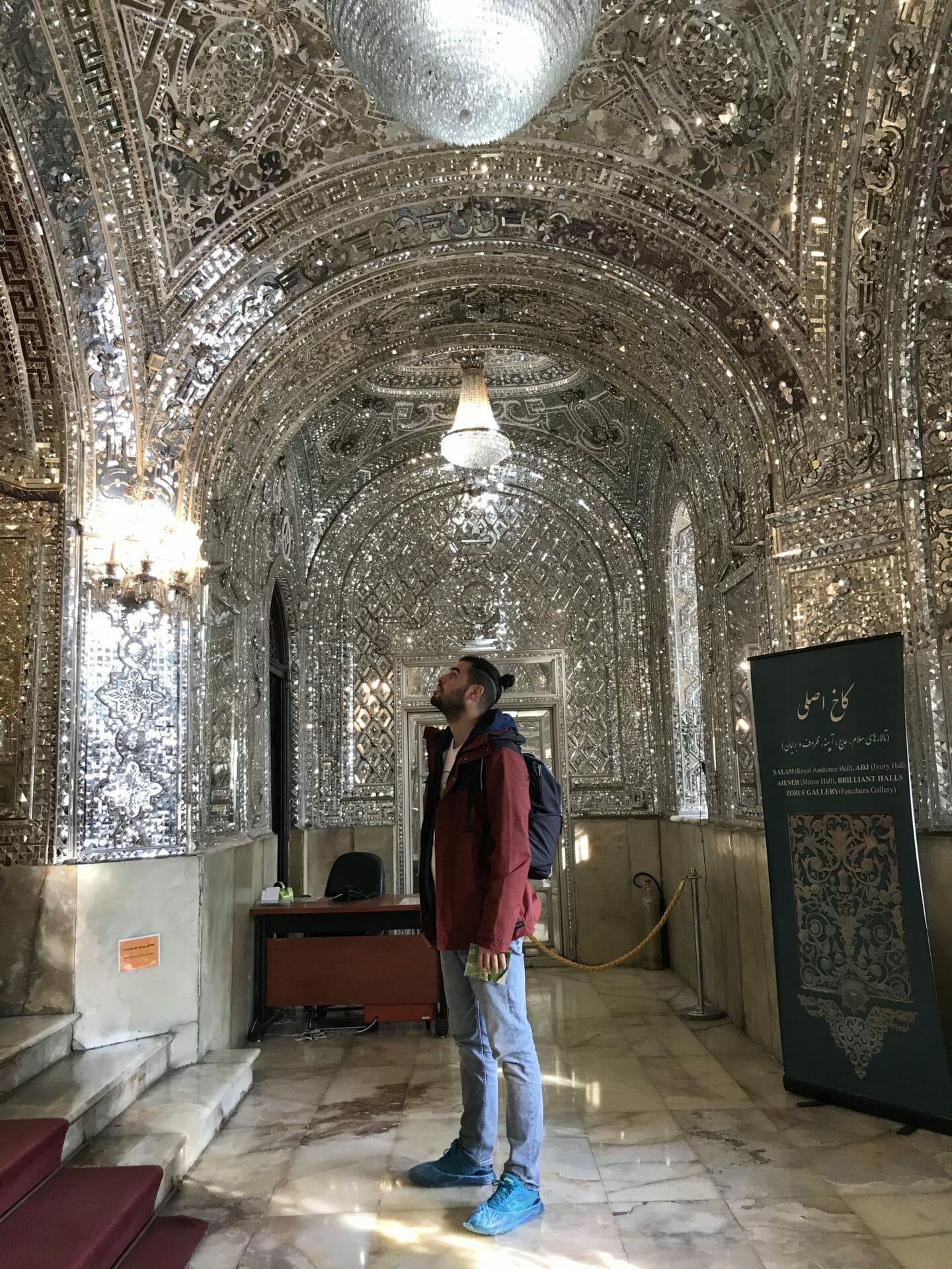 Sala de los espejos, Palacio de Golestan