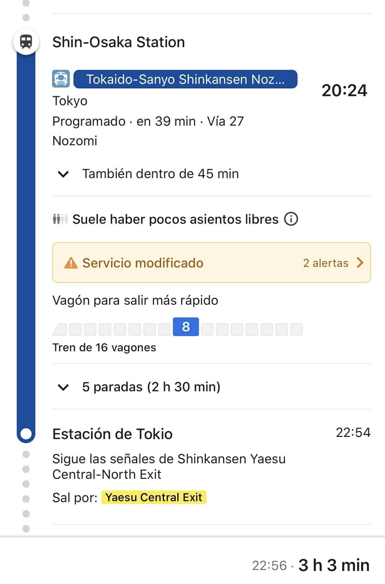 Google Maps trayecto