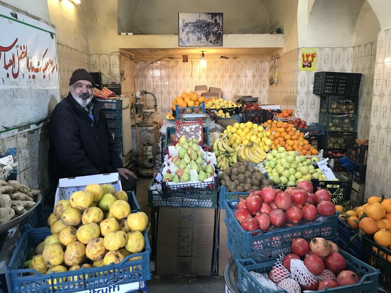 Fruteria en un bazar de Kashan