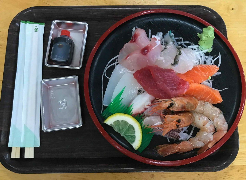 Sashimi mercado de Makishi