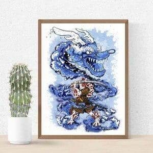 print carpa koi japonesa