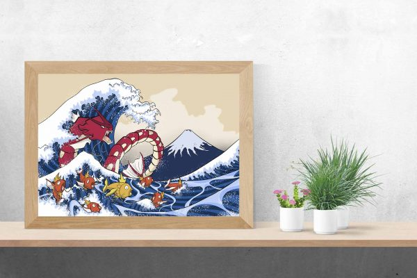 Ola de Hokusai versión Pokemon