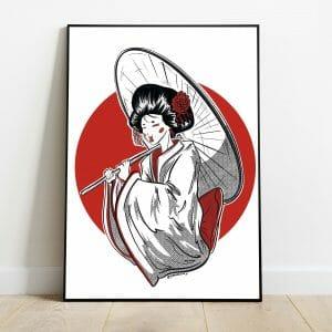 Ilustración Maiko japonesa