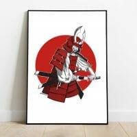 print samurai japones