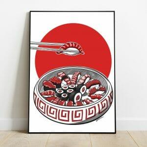 print bandeja de sushi