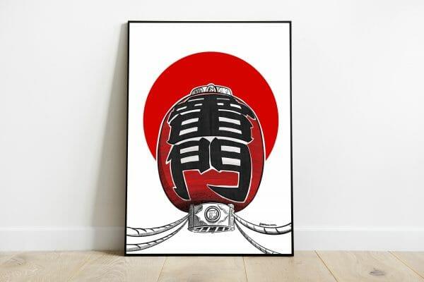 print linterna japonesa
